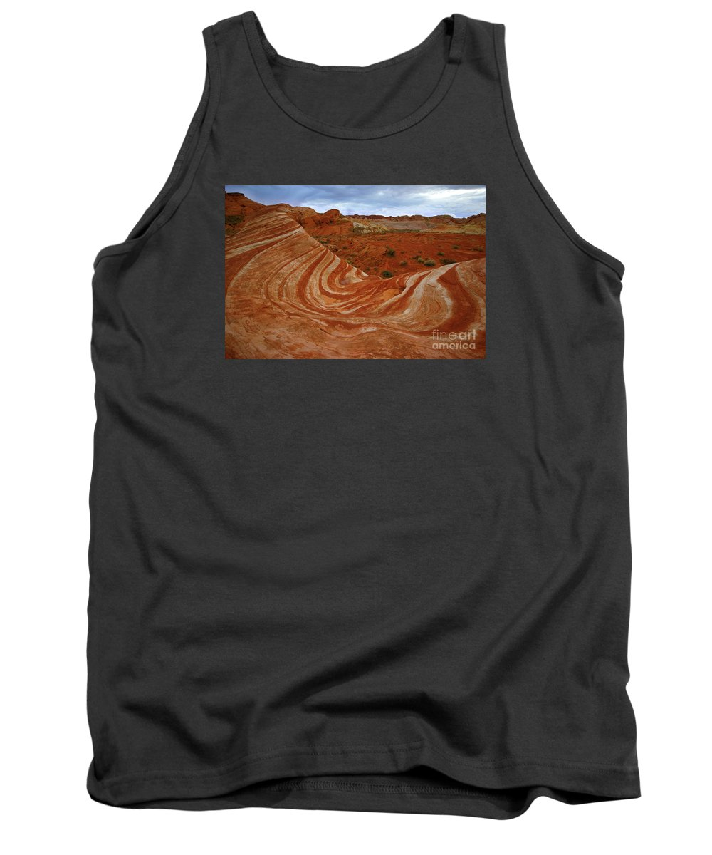 Valley Of Fire State Park Tank Top featuring the photograph Fire Wave by Benedict Heekwan Yang