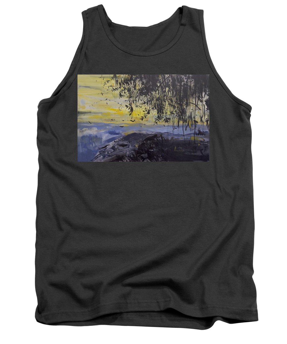 Water Tank Top featuring the painting Fireflies Nocturne by Calum McClure
