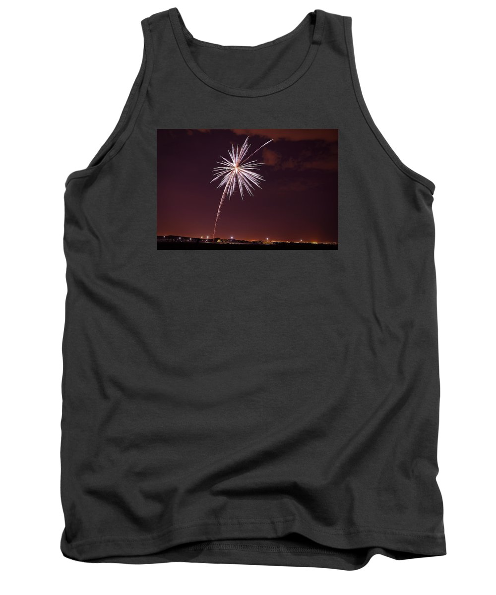 Robert Melvin Tank Top featuring the photograph Fireworks July4 2013 by Robert Melvin