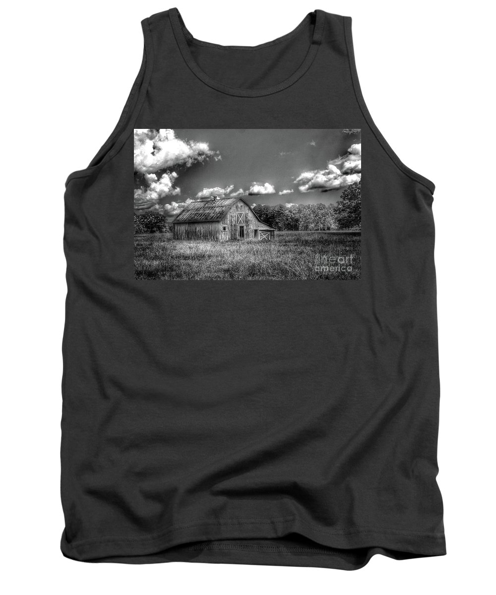 Barn Tank Top featuring the photograph First National Bank B by John Myers