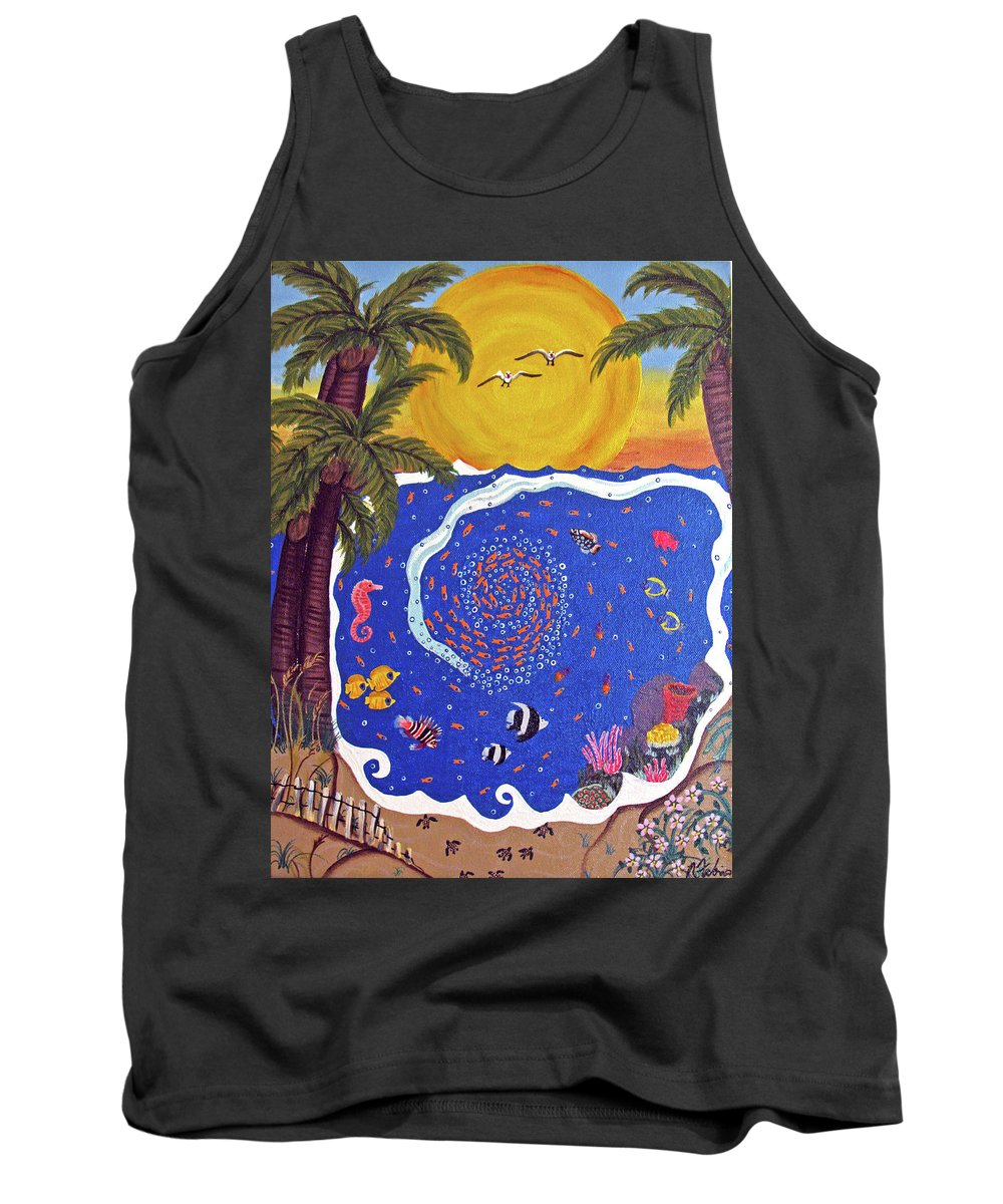 Landscape Tank Top featuring the painting Fish Bowl by Ruth Fabiano