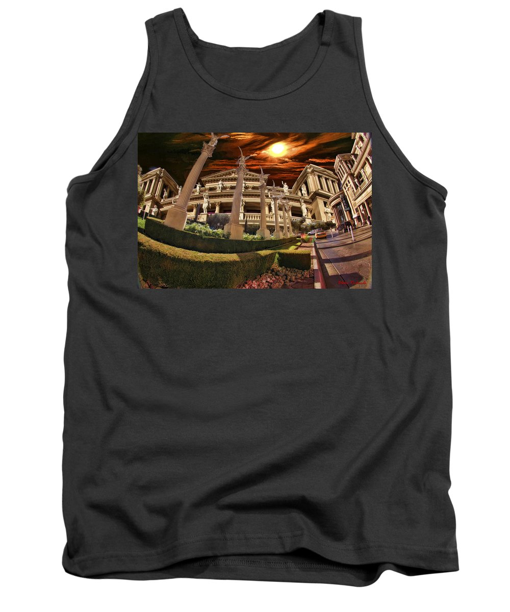 Tank Top featuring the photograph Fish Eye Building by Blake Richards