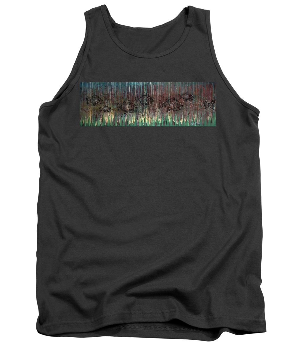 Fish Tank Top featuring the painting Fish by Kelly Jade King