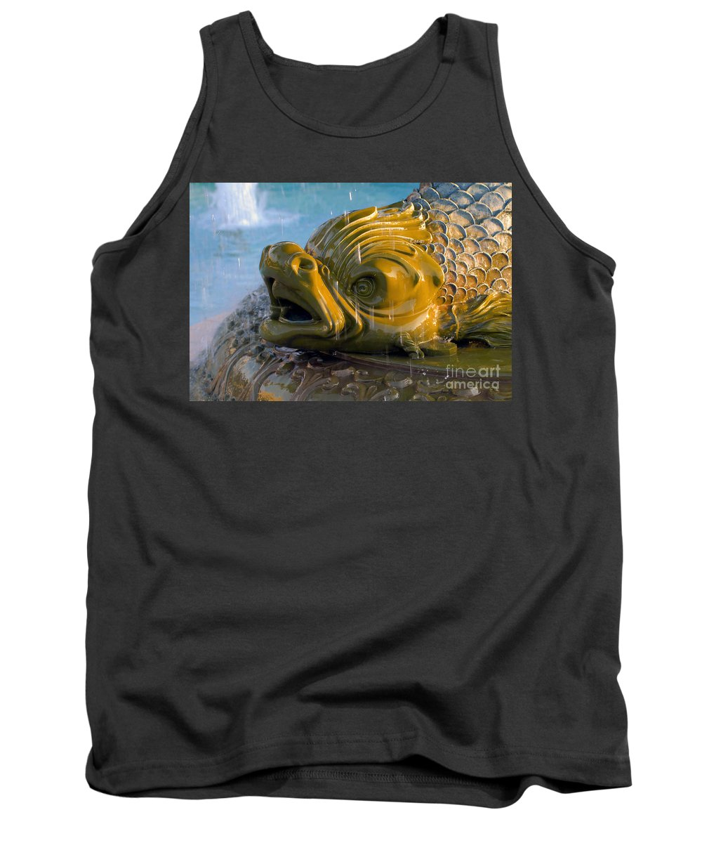 Fish Tank Top featuring the photograph Fish Out Of Water by David Lee Thompson