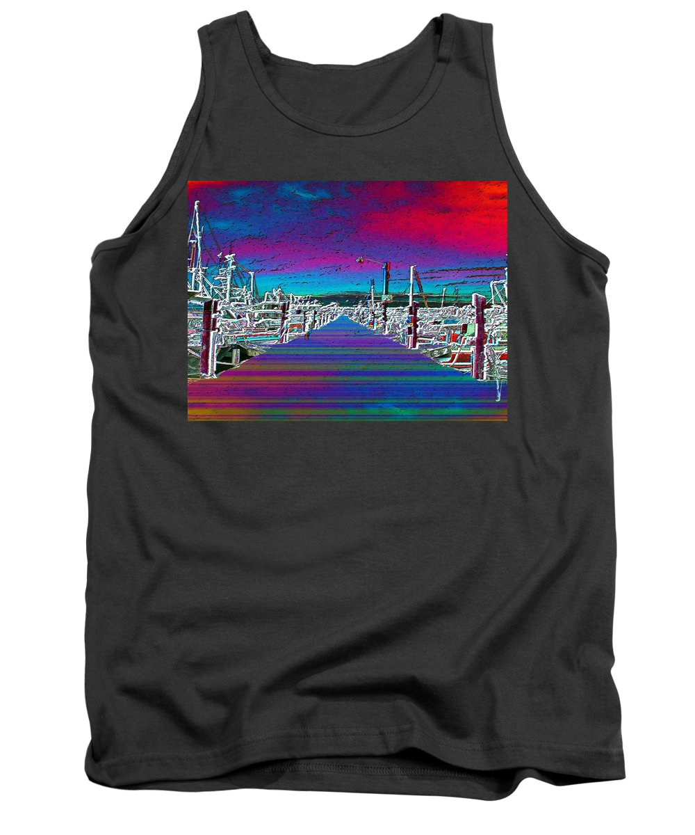 Seattle Tank Top featuring the photograph Fishermans Terminal Pier by Tim Allen