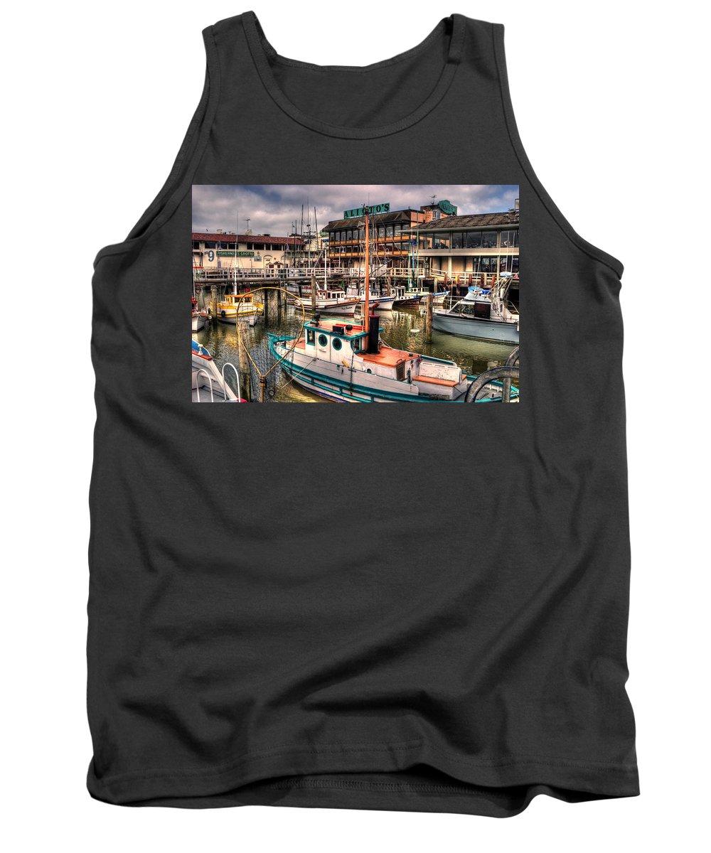San Francisco Tank Top featuring the photograph Fisherman's Wharf by Lee Santa