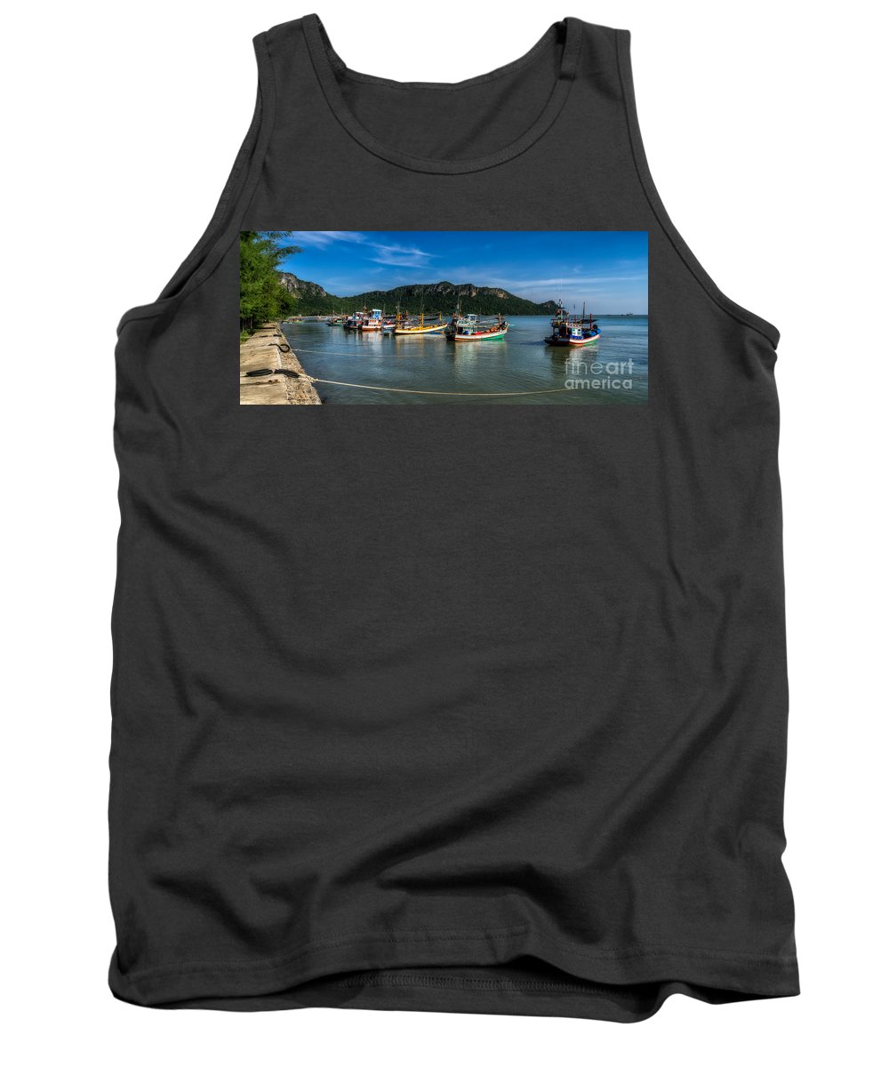 Boat Tank Top featuring the photograph Fishing Harbour by Adrian Evans