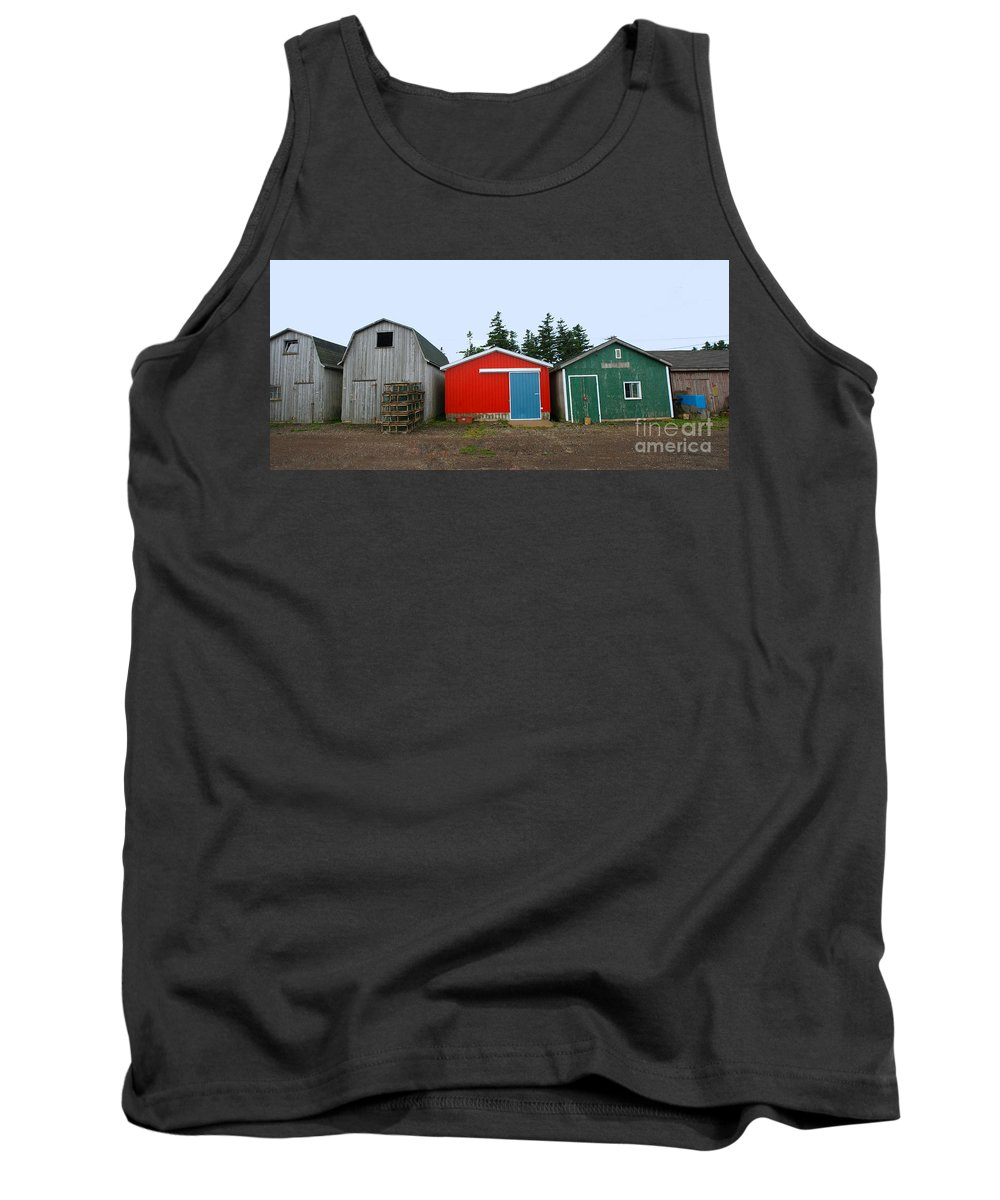 Fishing Tank Top featuring the photograph Fishing Shacks Prince Edward Island Canada by Thomas Marchessault