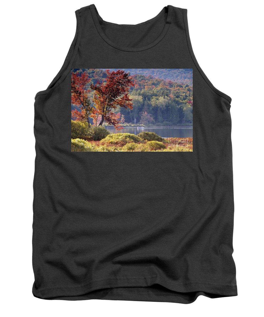 Adirondack Mountains Tank Top featuring the photograph Fishing The Adirondacks by David Lee Thompson