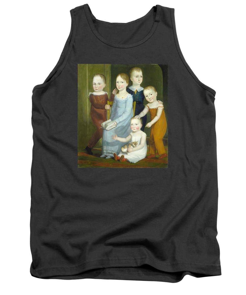 American 19th Century Tank Top featuring the painting Five Children Of The Budd Family by American 19th Century