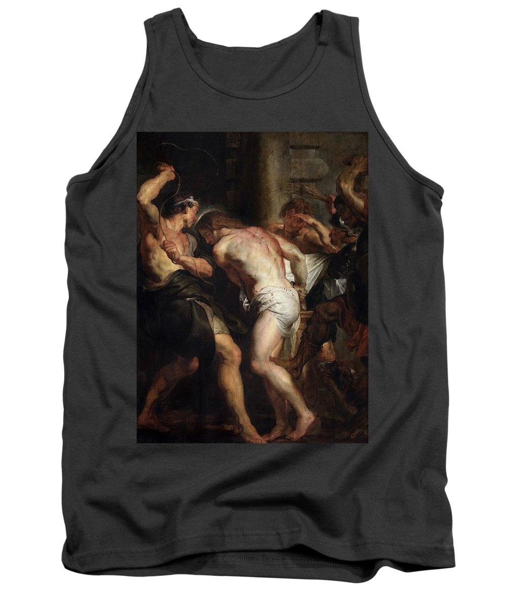 Cadaver Tank Top featuring the digital art Flagellation Of Christ 2 Peter Paul Rubens by Eloisa Mannion