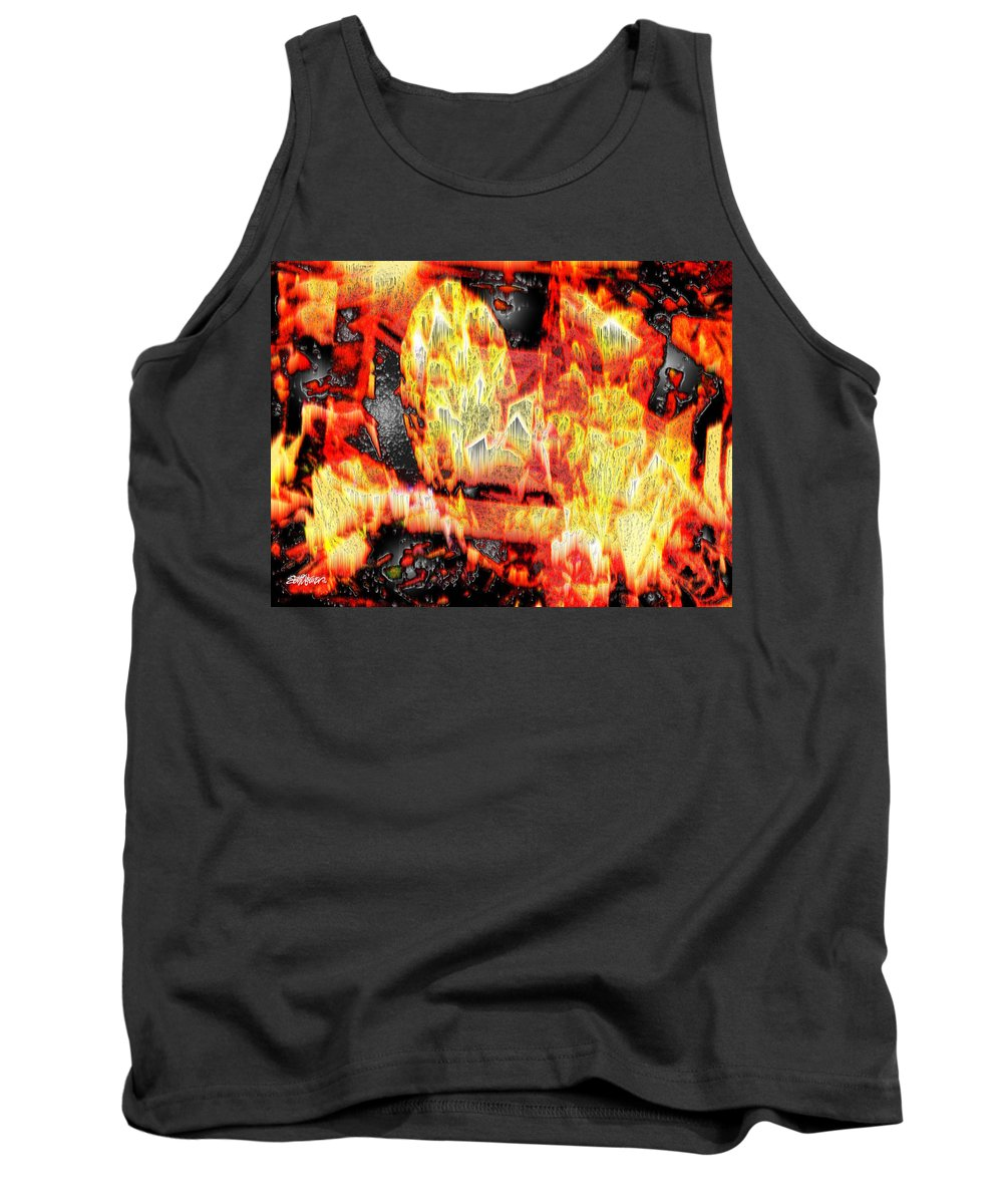 Abstract Tank Top featuring the photograph Flame Gems by Seth Weaver