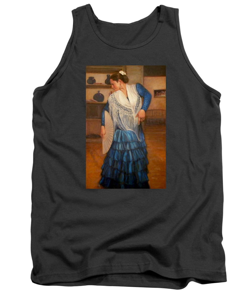 Realism Tank Top featuring the painting Flamenco 2 by Donelli DiMaria