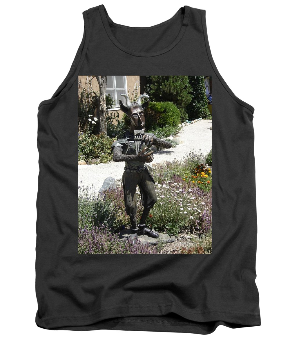 Statue Tank Top featuring the photograph Flautist by Mary Rogers
