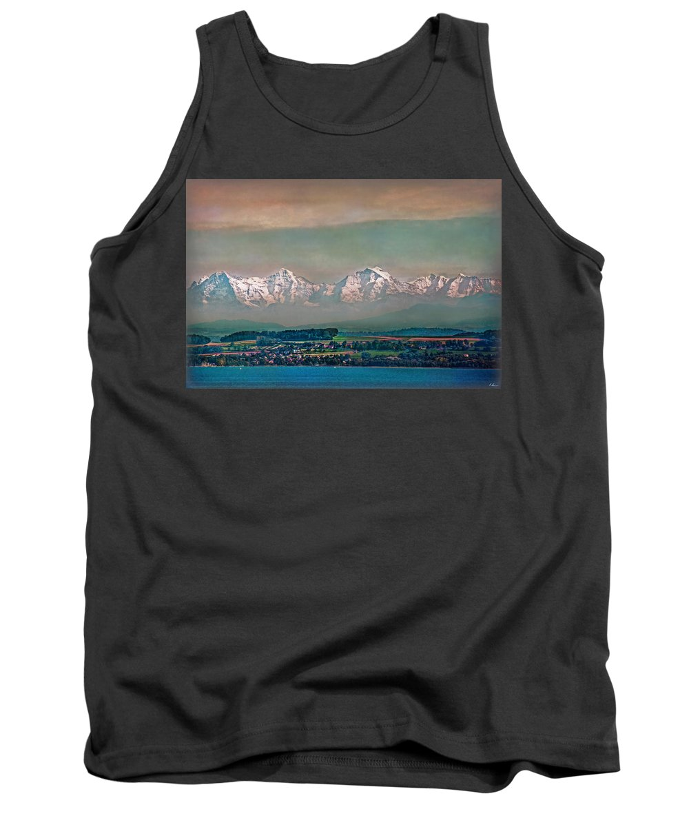 Switzerland Tank Top featuring the photograph Floating Swiss Alps by Hanny Heim
