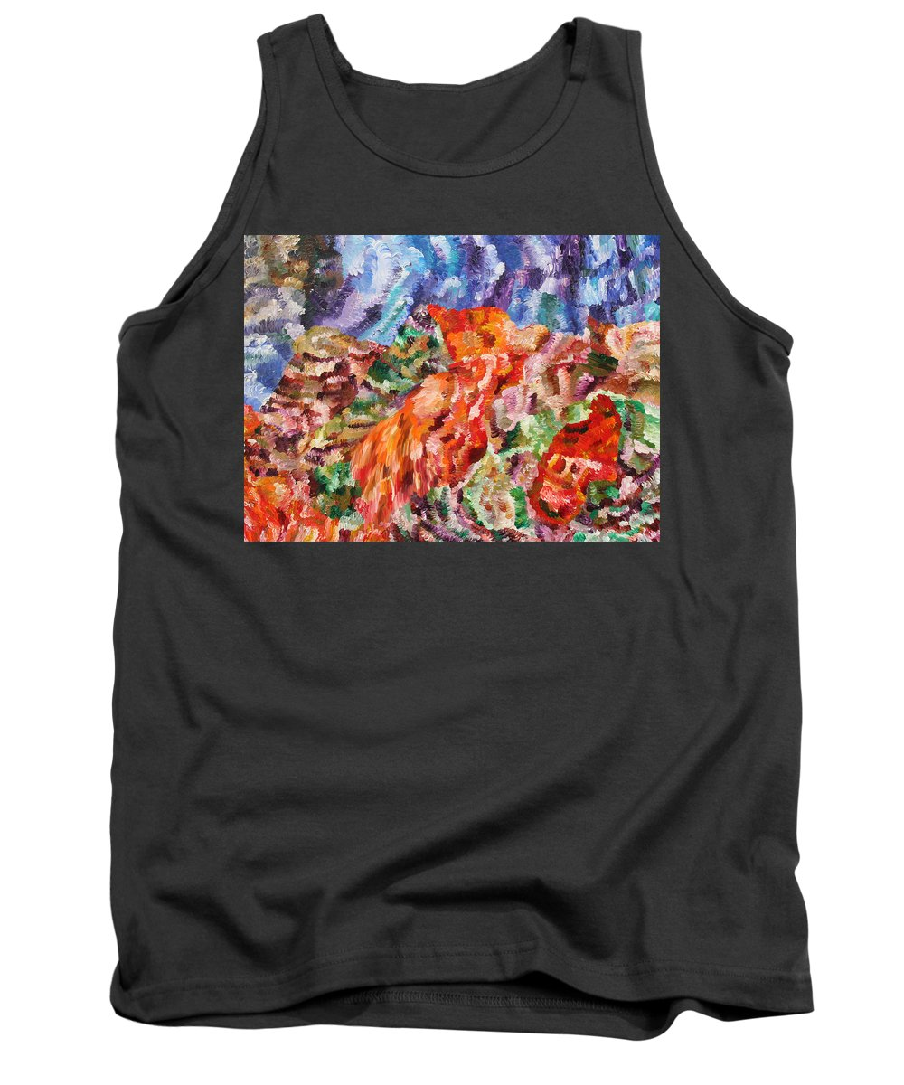 Fusionart Tank Top featuring the painting Flock by Ralph White