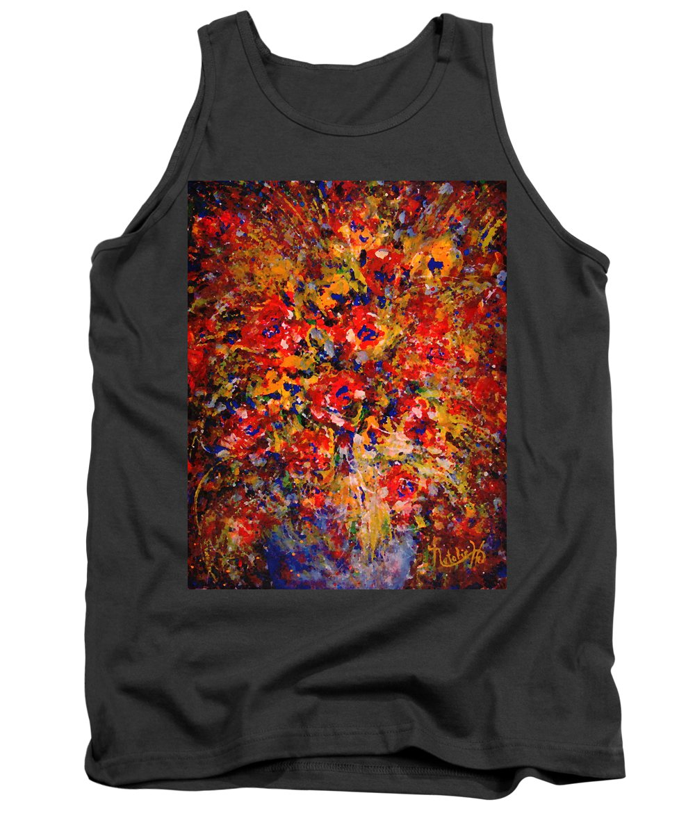 Flowers Tank Top featuring the painting Floral Feelings by Natalie Holland