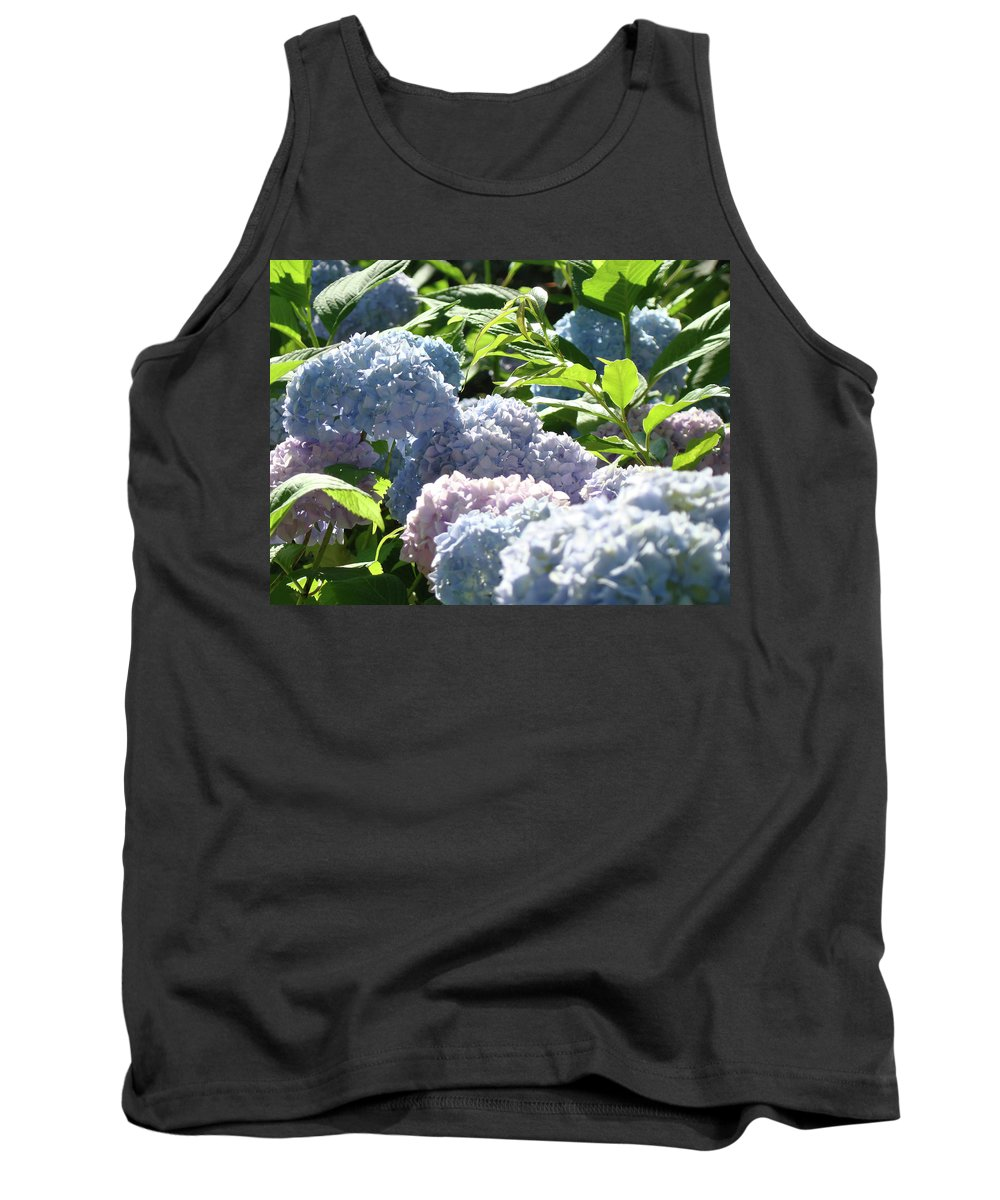 Nature Tank Top featuring the photograph Floral Garden Art Prints Blud Hydrangea Flowers by Baslee Troutman