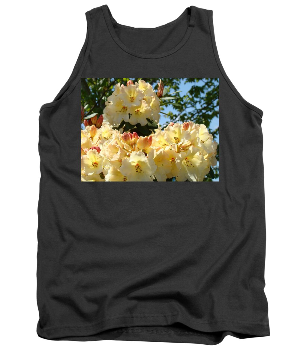 Rhodies Tank Top featuring the photograph Floral Rhododendrons Fine Art Photography Art Prints Baslee Troutman by Baslee Troutman