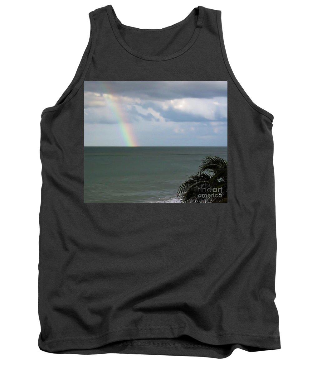Rainbow Tank Top featuring the photograph Florida - Beach - Rainbow by D Hackett