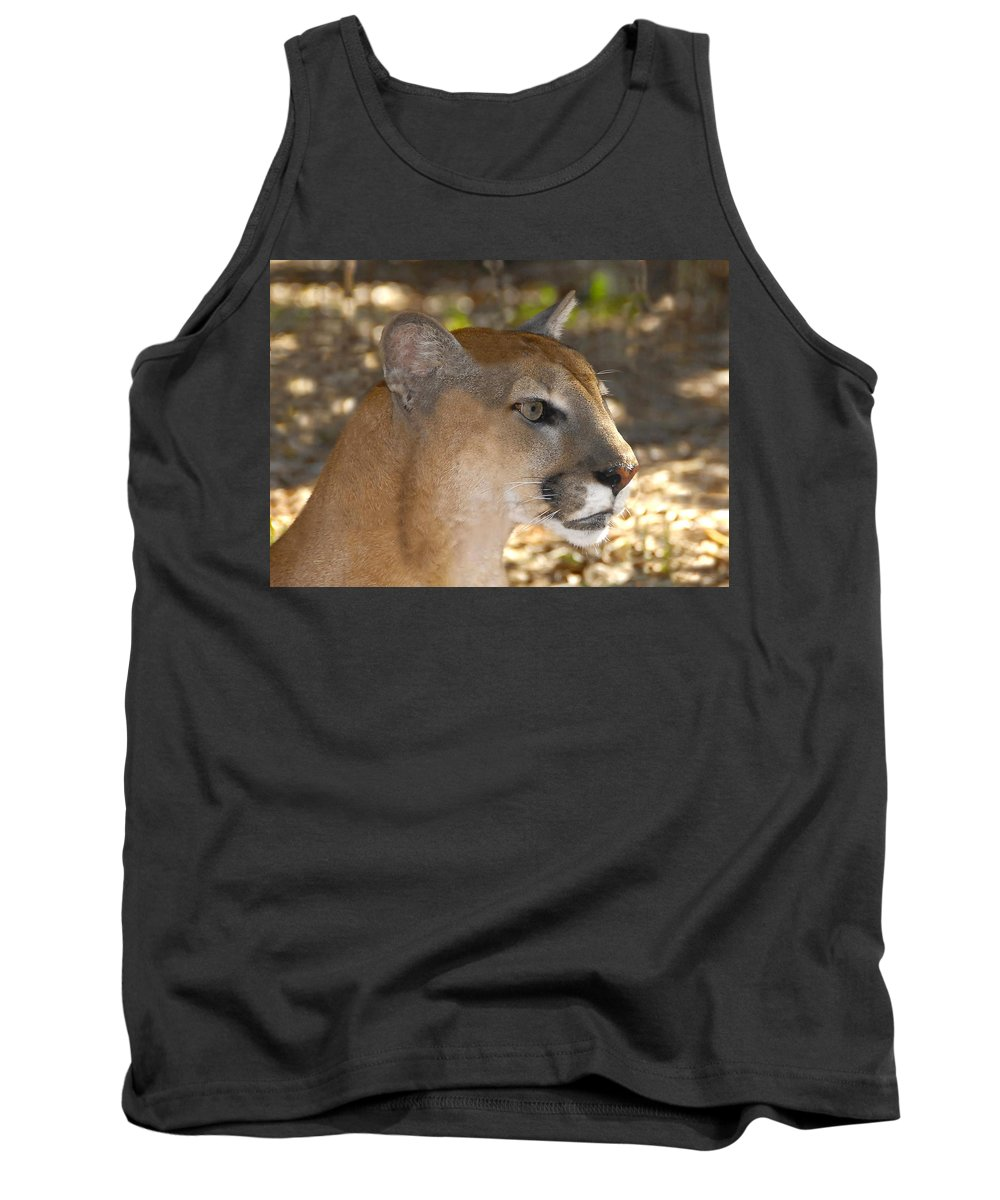 Florida Tank Top featuring the photograph Florida Panther by David Lee Thompson