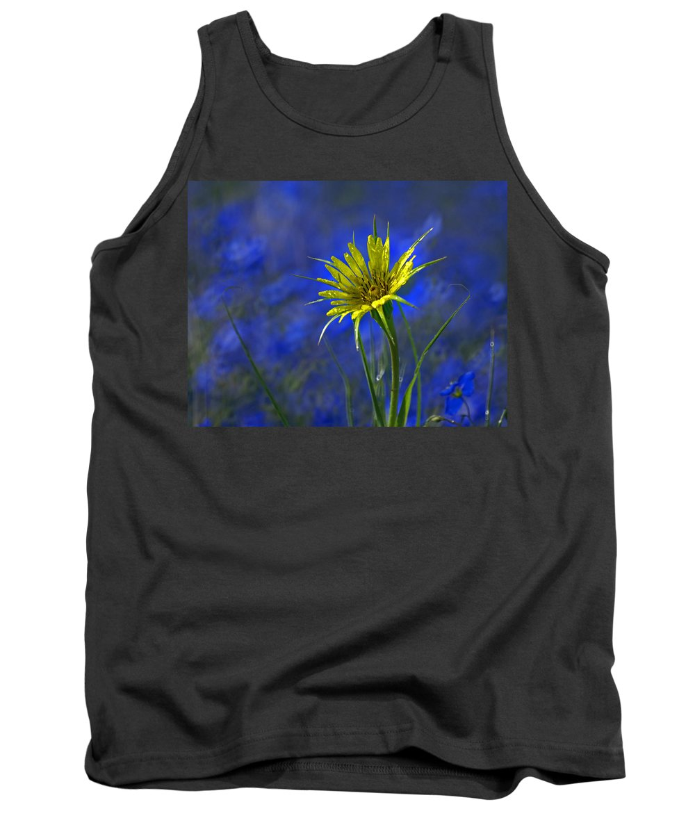 Flower Tank Top featuring the photograph Flower And Flax by Heather Coen