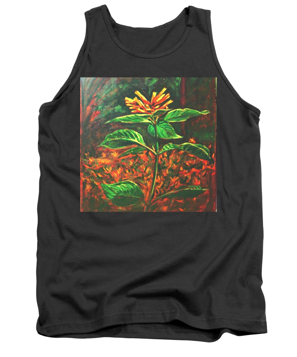 Flower Tank Top featuring the painting Flower Branch by Usha Shantharam