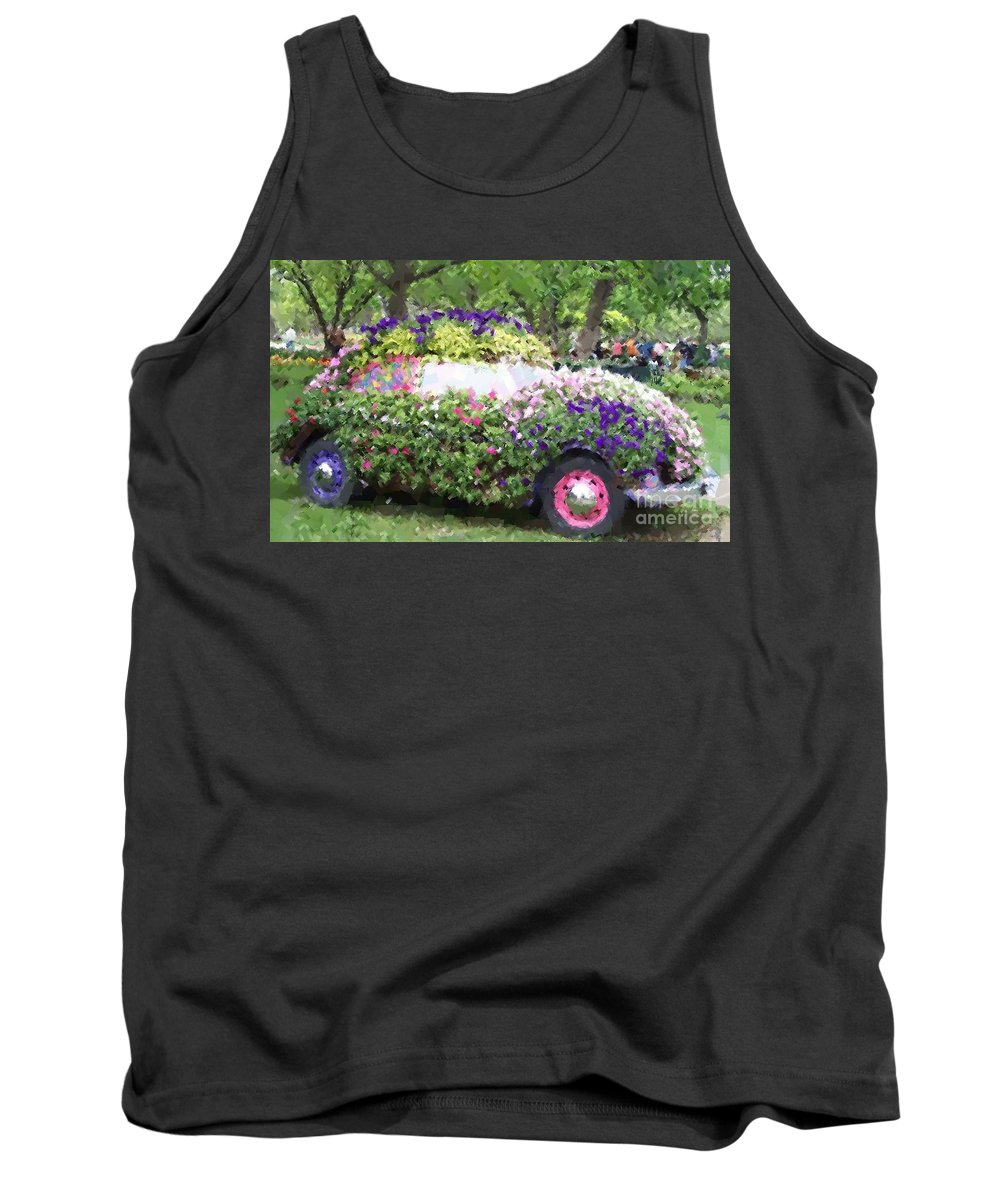 Cars Tank Top featuring the photograph Flower Power by Debbi Granruth