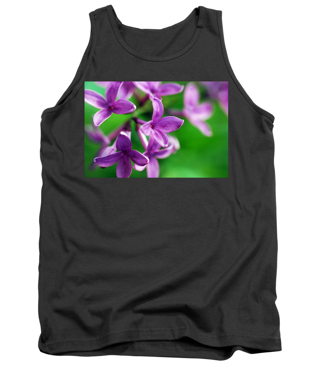Lilac Tank Top featuring the photograph Flowering Lilac by Lori Tambakis
