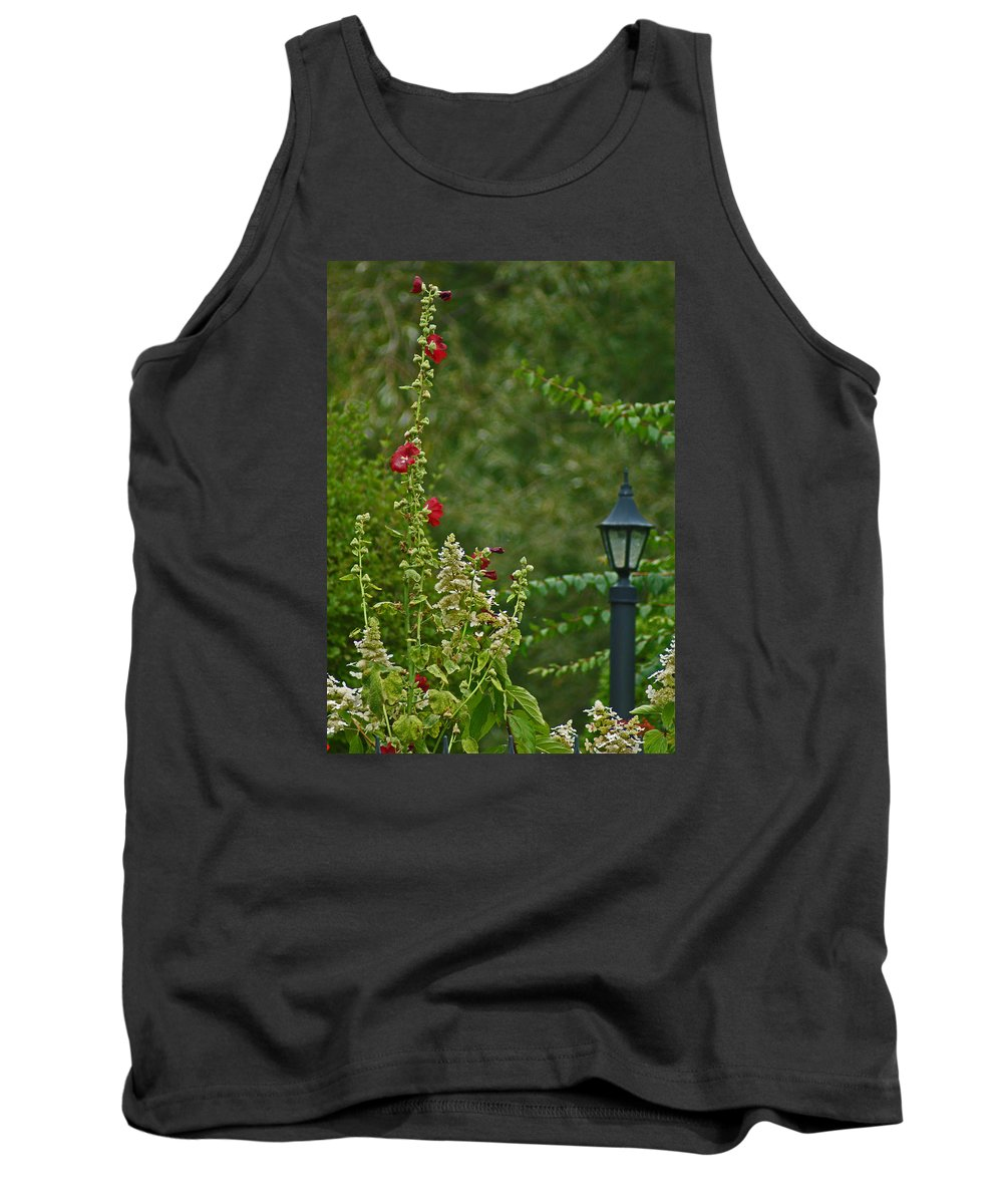 Lantern Tank Top featuring the photograph Flowers And Lanterns by Maria Keady