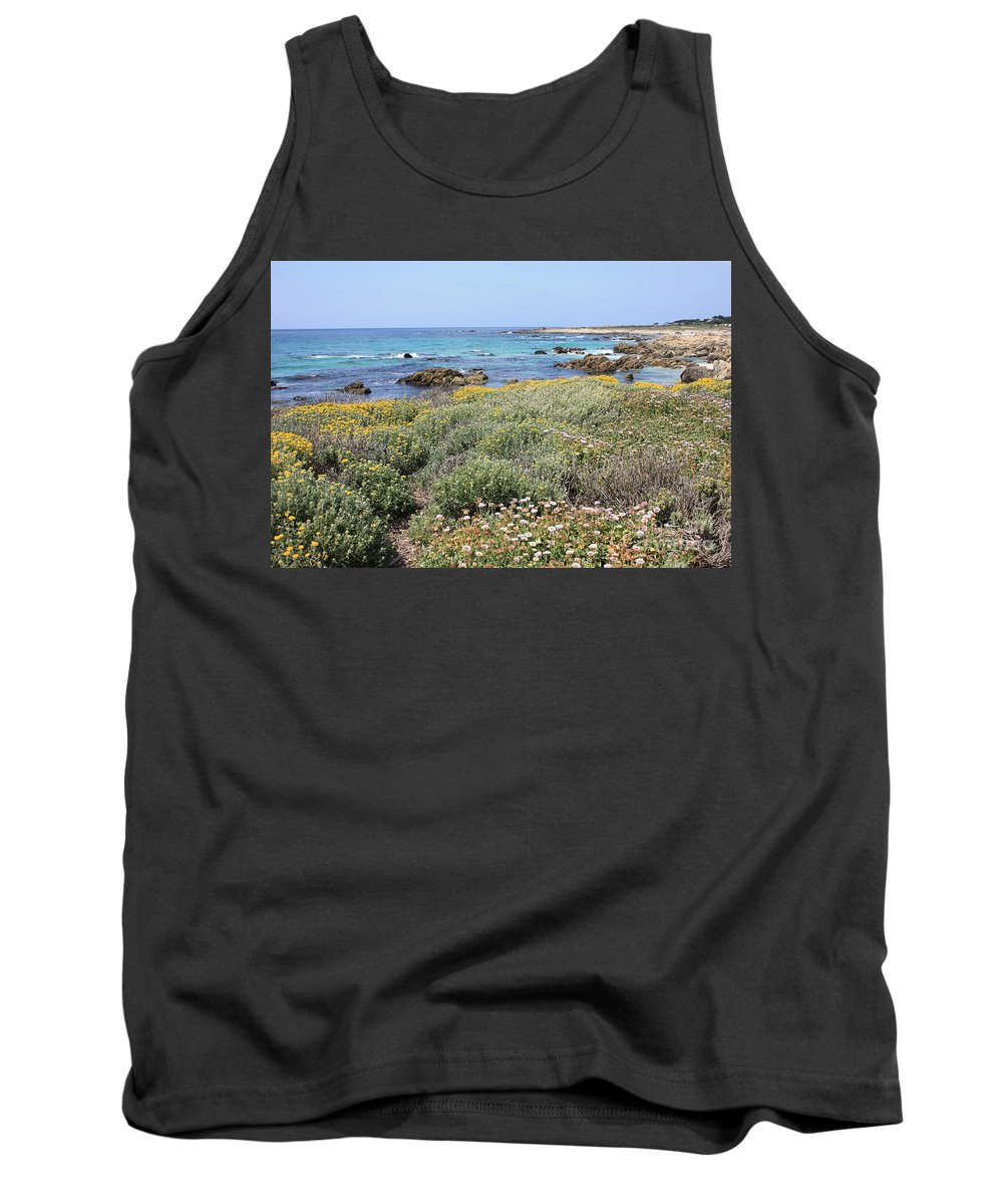 Tank Top featuring the photograph Flowers And Surf by Carol Groenen