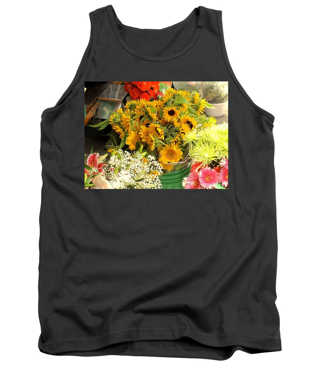 Flowers Tank Top featuring the photograph Flowers For Sale by Ian MacDonald