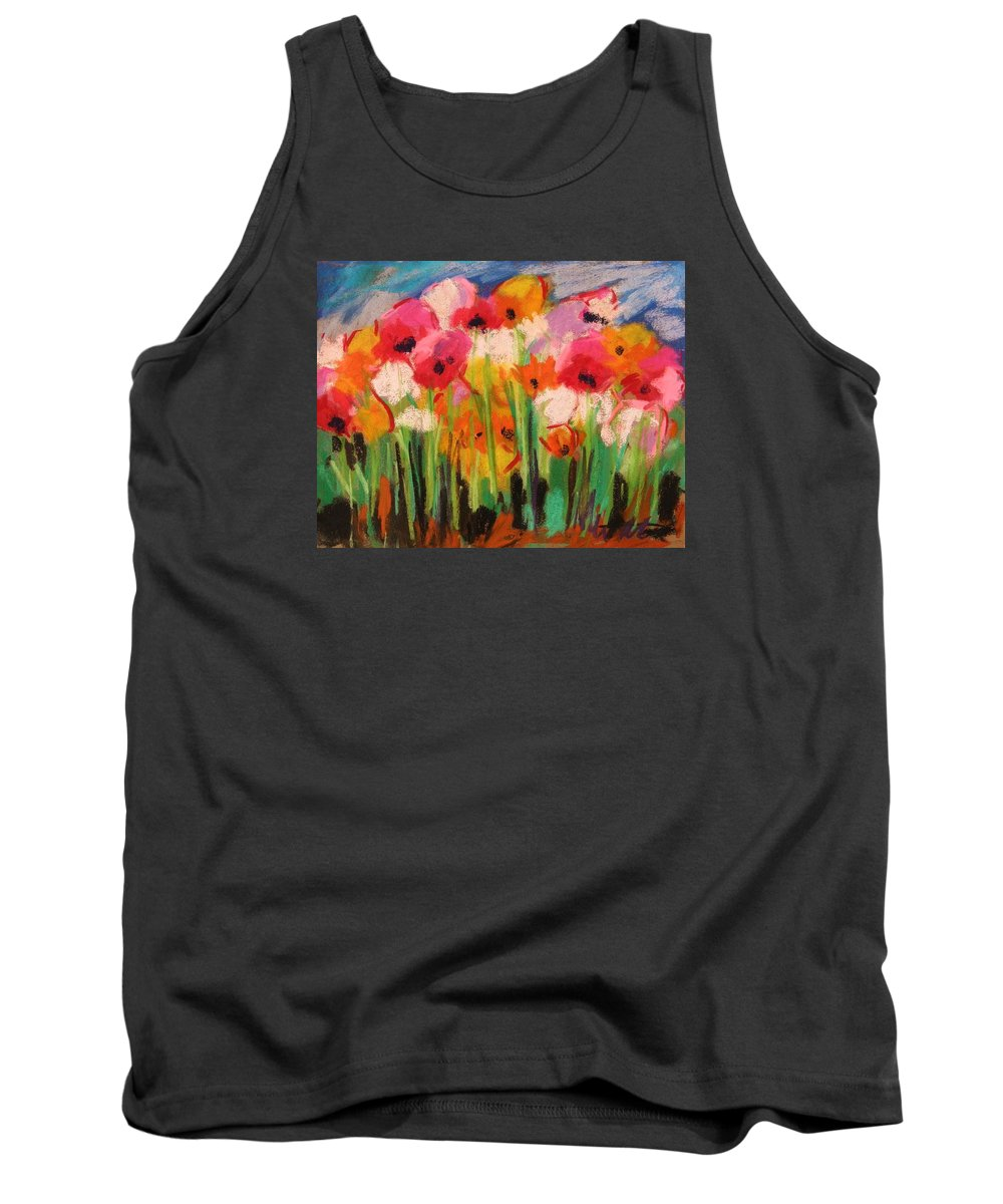 Flowers Tank Top featuring the painting Flowers by John Williams