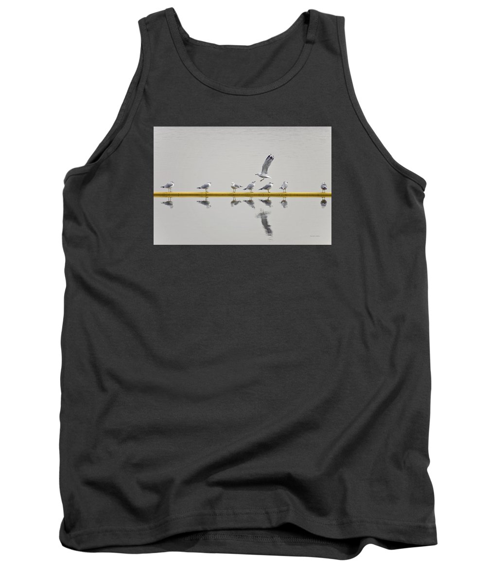 Jordan Lake Tank Top featuring the photograph Fly By by Randall Arthur