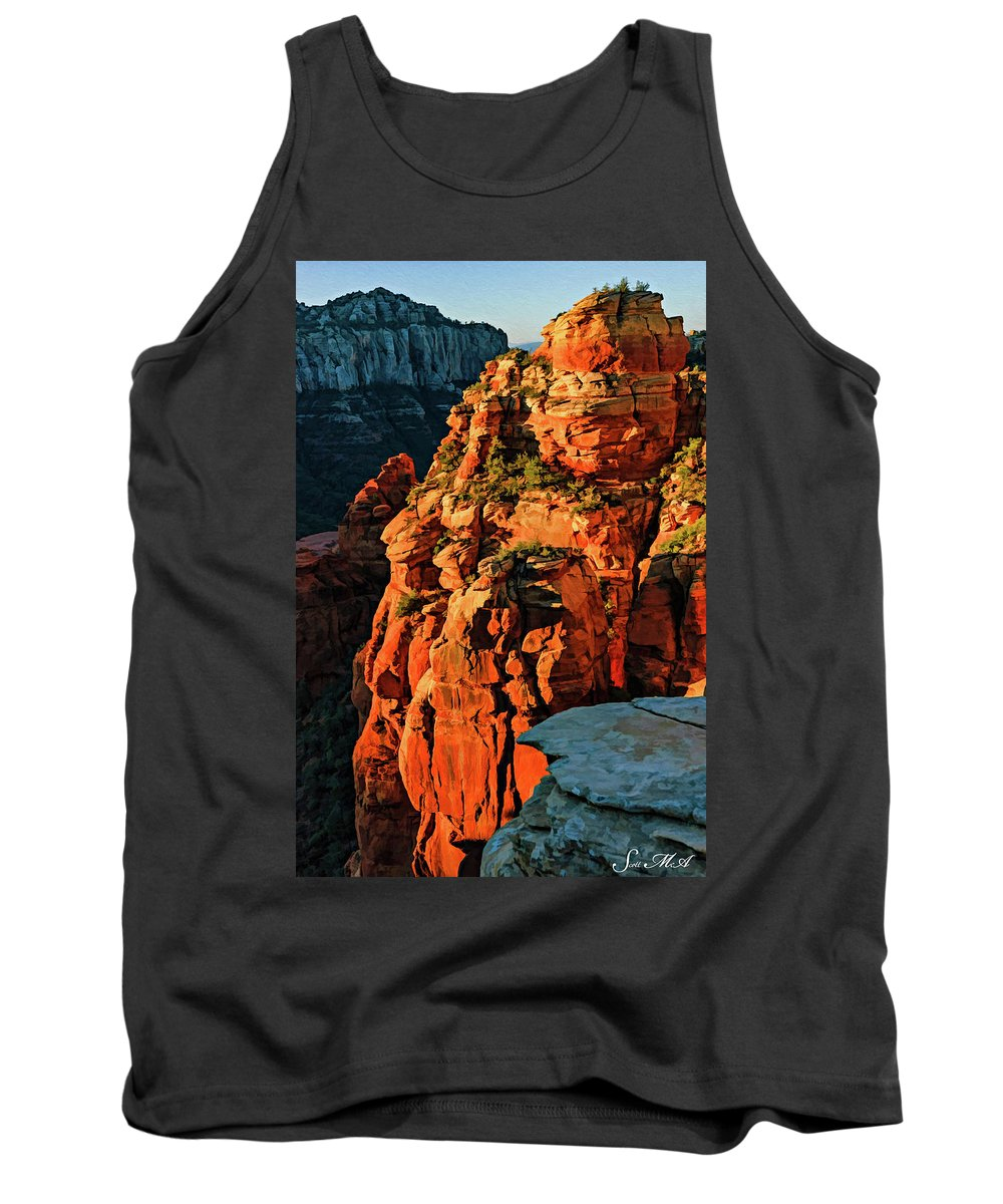 Arizona Tank Top featuring the photograph Flying Buttress 06-034 by Scott McAllister
