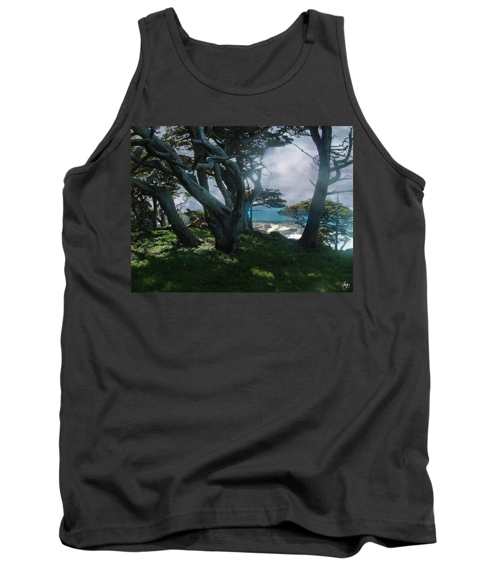 Cypress Tank Top featuring the photograph Fog Intrusion Point Lobos by Wayne King