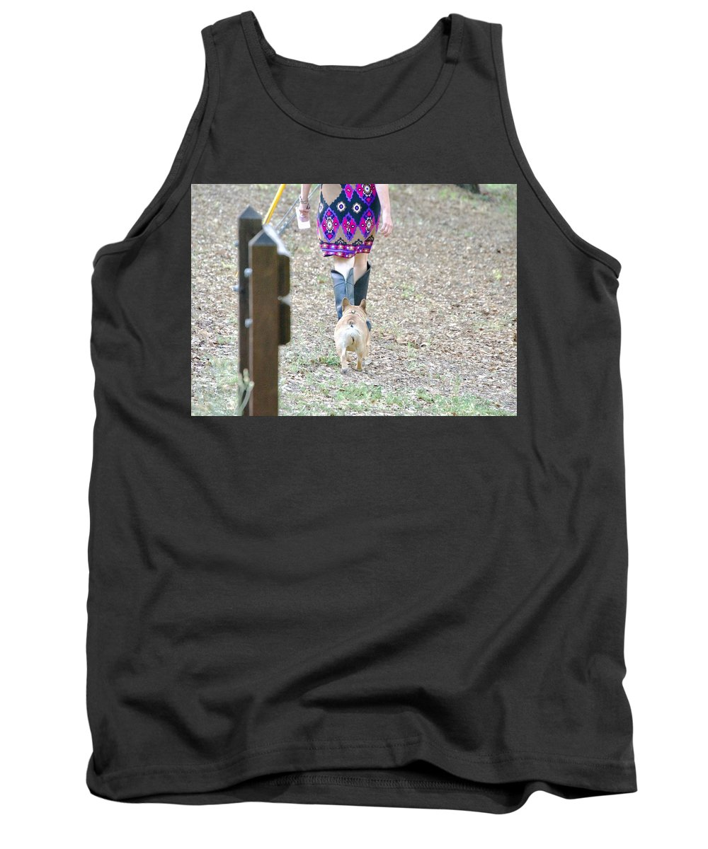 Dog Tank Top featuring the photograph Follower by Kathy Beyer