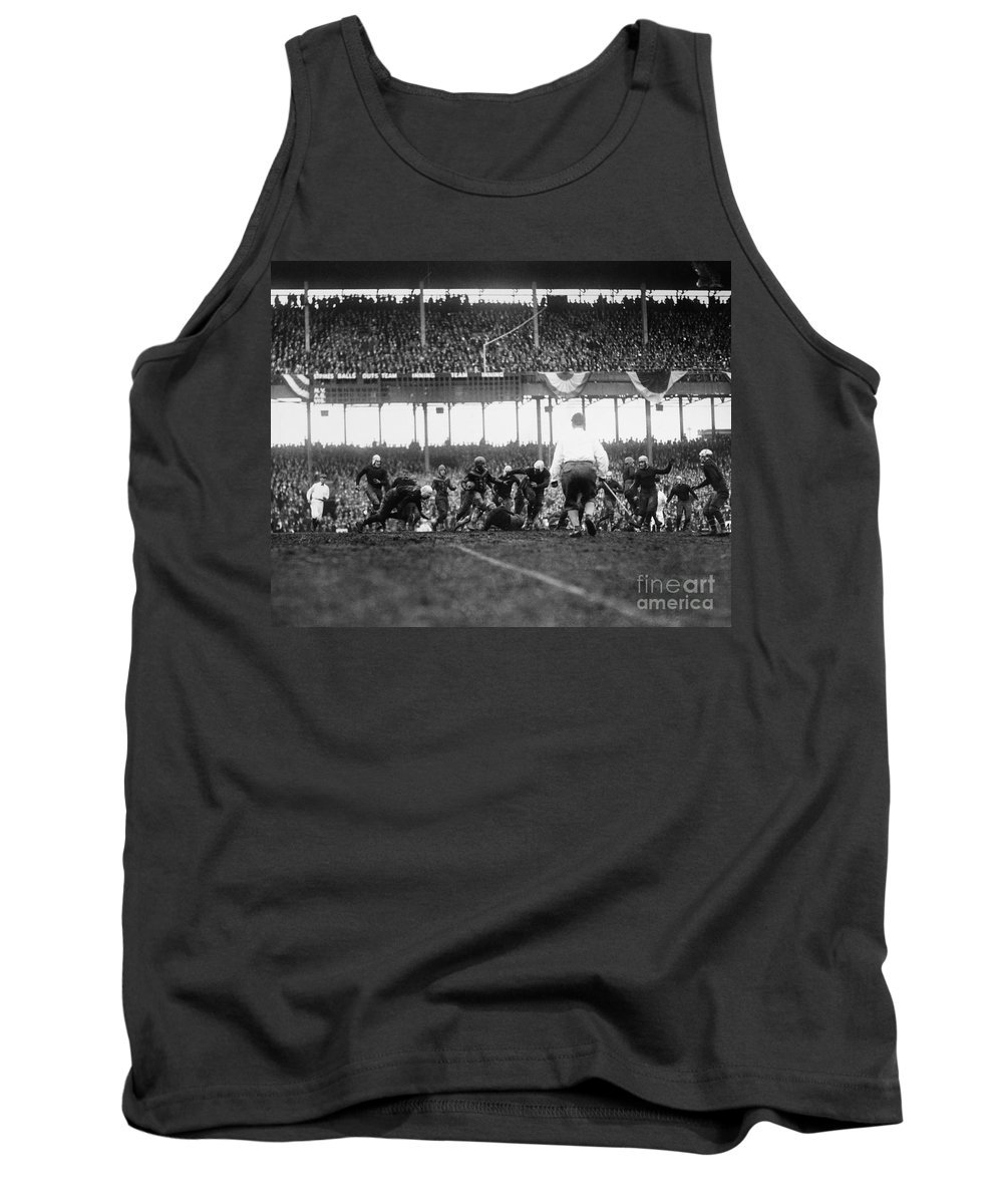 1925 Tank Top featuring the photograph Football Game, 1925 by Granger