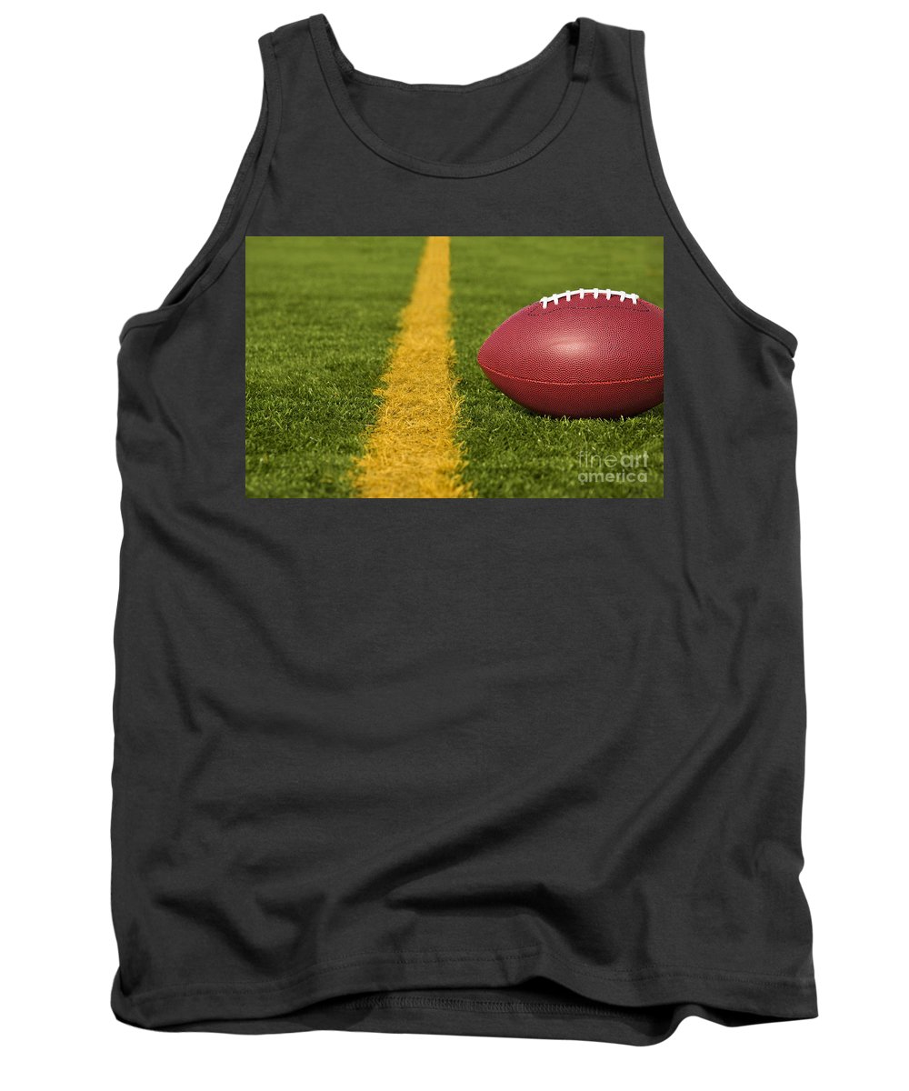 America Tank Top featuring the photograph Football Short Of The Goal Line Close by SAJE Photography