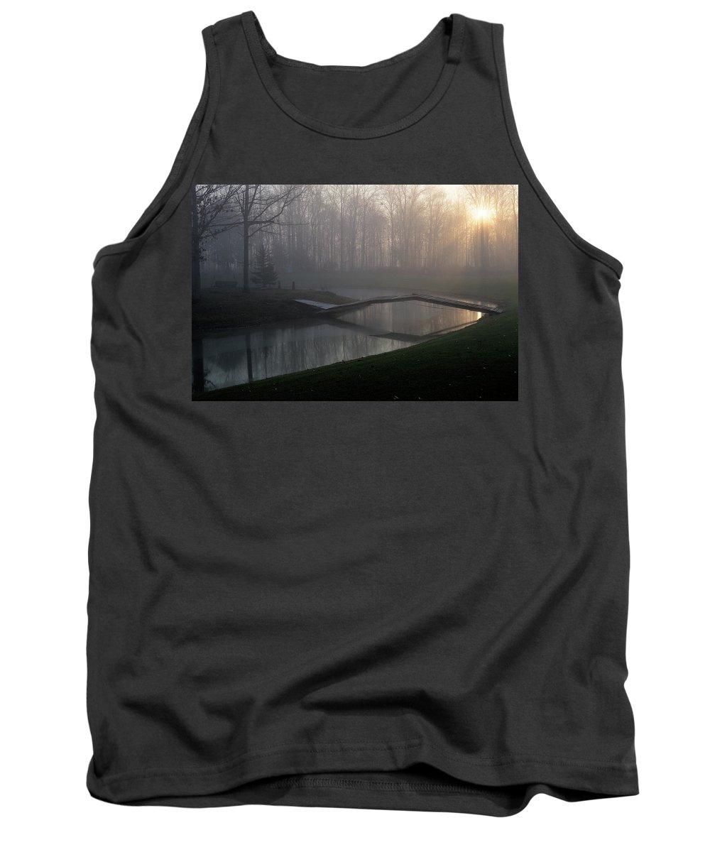 Bridge Tank Top featuring the photograph Footbridge by David Arment