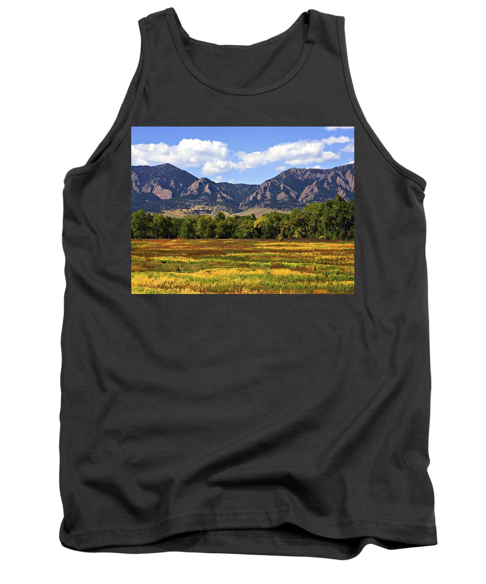 Fall Tank Top featuring the photograph Foothills Of Colorado by Marilyn Hunt