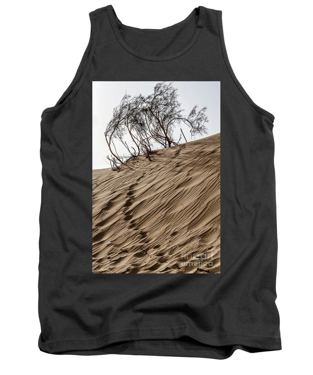 Sand Tank Top featuring the photograph Footprints by Arik Baltinester