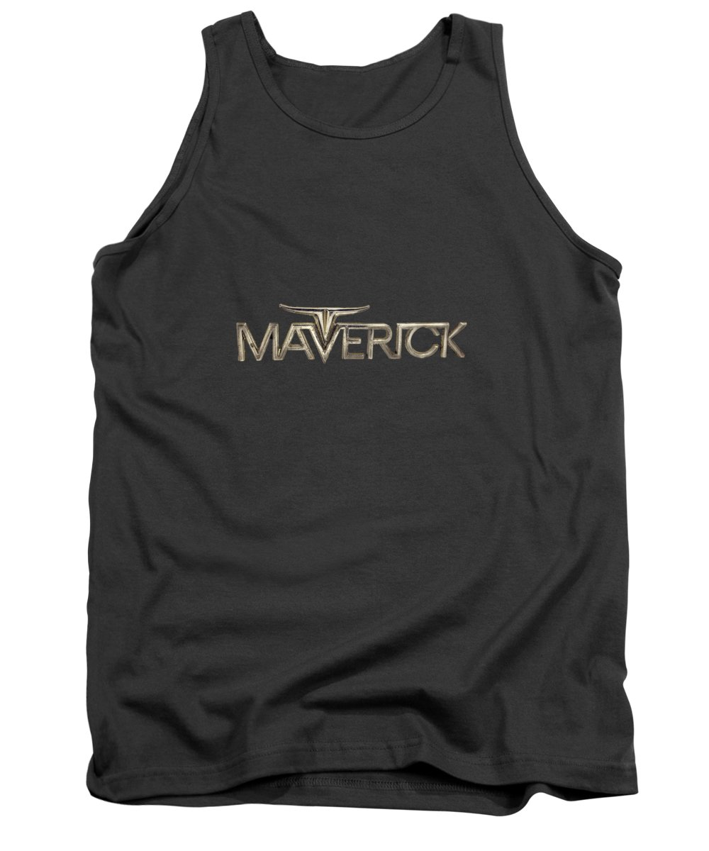 Automotive Tank Top featuring the photograph Ford Maverick Badge by YoPedro