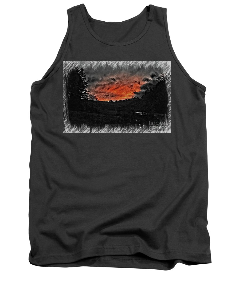 Photograph Tank Top featuring the photograph Foreboding Dusk by Peter Orthmann