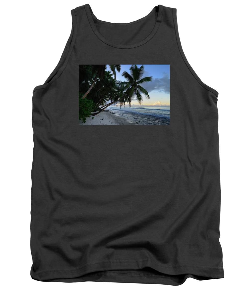 Blue Tank Top featuring the photograph Forest Beach 2 by Michael Scott