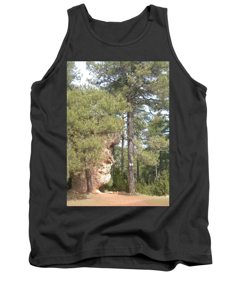 Landscape Tank Top featuring the photograph Forest Face by Valerie Ornstein