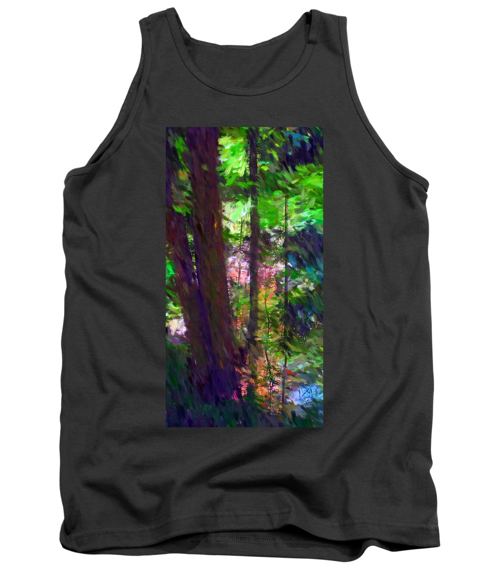 Digital Photography Tank Top featuring the digital art Forest For The Trees by David Lane
