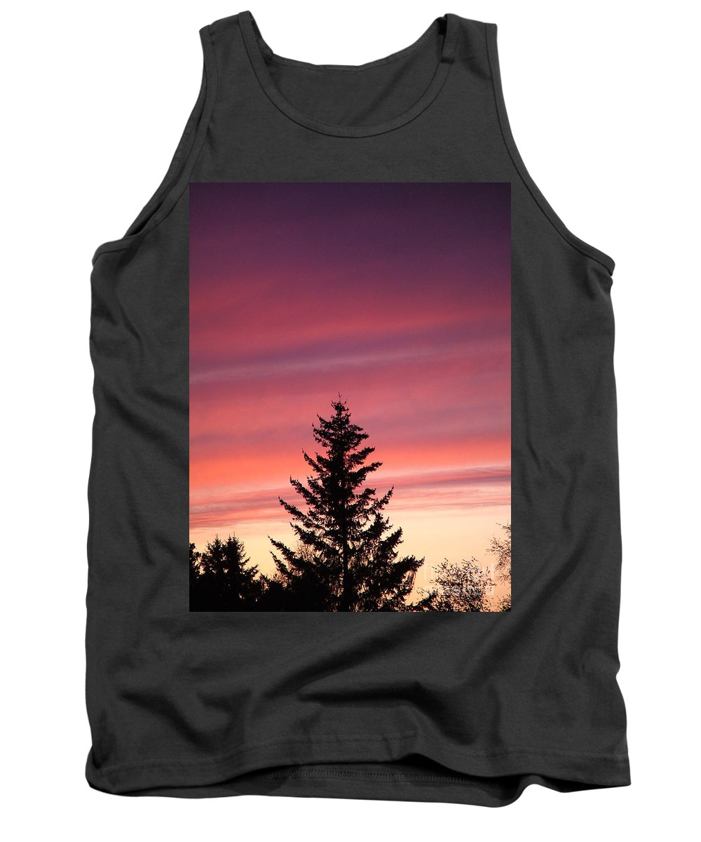 Sunset Photo Tank Top featuring the photograph Forest Grove Sunset by Nick Gustafson