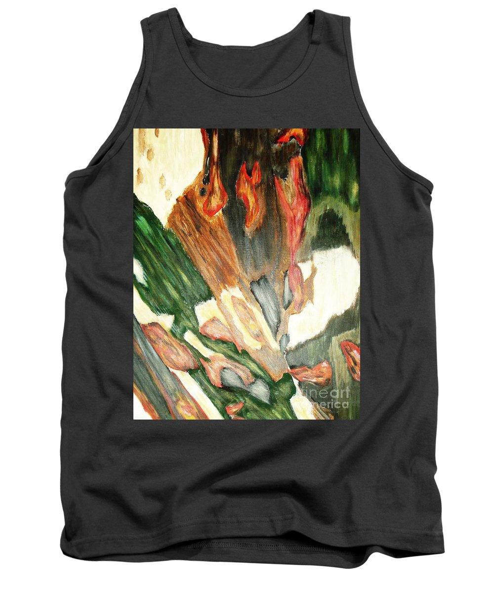 Abstract Tank Top featuring the painting Forest by Yael VanGruber