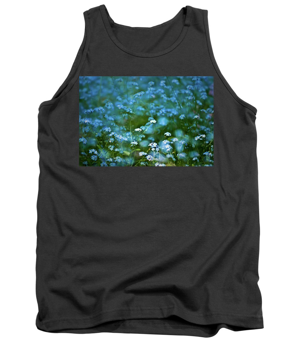 Forget-me-not Tank Top featuring the photograph Forget-me-not Flower Patch by Onyonet Photo Studios